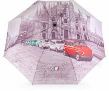 YNot Parasol damski z nadrukiem automatyczny Easymatic Light City Milano - City