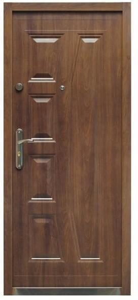 Splendoor Drzwi zewnętrzne stalowe  Gaja 90 prawe orzech szlachetny