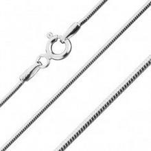 Biżuteria e-shop Zaokrąglony łańcuszek żmijka, ze srebra 925, 1 mm