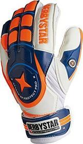 PRODerbystar Attack XP Protect rękawice bramkarskie, biało-niebiesko-pomarańczowe, niebieski 2649100000_blau/orange/weiß_10
