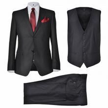 Trzyczęściowy garnitur męski rozmiar 52 czarny