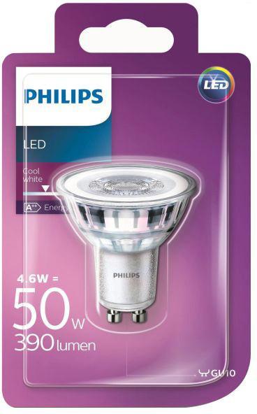 Philips Żarówka LED GU10 4 6 W 390 lm mleczna barwa zimna