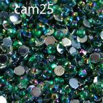 Ozdoby do paznocki akrylowe minikuleczki opalizujące AB cam25 szmaragdowe