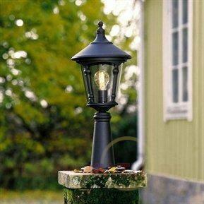 Piękna lampa na cokół VIRGO, czarna