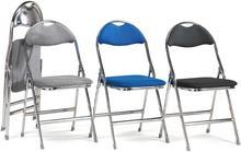 Krzesło składane RENFREW, szary, chrom