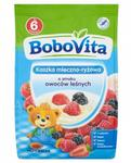 Nutricia BOBOVITA Kaszka mleczno-ryżowa o smaku owoców leśnych po 6 m-cu