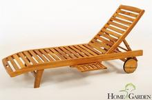 Home&Garden Leżanka Ogrodowa z półką Drewniana Akacja