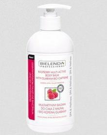 Bielenda PROFESSIONAL Multiaktywny balsam do ciała z maliną i Bio-kofeiną z Guarany 500ml