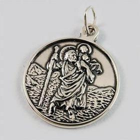 Srebrny wisiorek św. Krzysztof z napisem MK 3.7g (MK 3.7g)