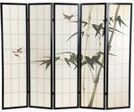 IMAGGIO Parawan. drewniany. japoński. Ręcznie malowany !