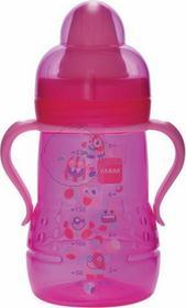 Mam Baby butelka treningowa 220 ml 6+ RÓŻOWA - MAM butelka treningowa 220 ml