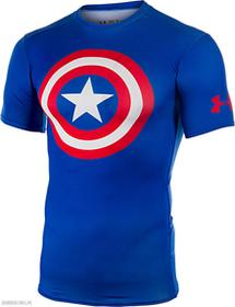 Under Armour Mens Alter Ego Compression Shortsleeve Captain America
