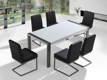 Beliani Beliani Zestaw mebli stal szlachetna – Stół 180 – Krzesła do wyboru - ARCTIC I biały