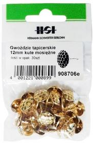 Grene tapicerskie 12 mm kute mosiężne 30 szt.