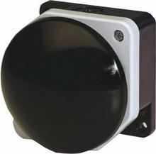 Giovenzana Przycisk dłoniowy fi 90mm czarny obudowa szaro-czarna 1NC IP66 PG8M9W