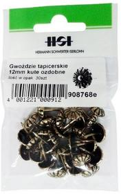 Grene tapicerskie 12 mm kute ozdobne 30 szt.