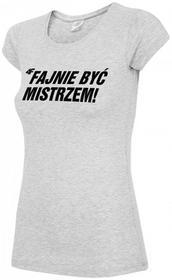 4F [T4L16-TSD305C] T-shirt kibica damska TSD305C - szary melanż 1