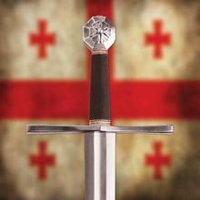 Płatnerze hiszpańscy WSPANIAŁY HISTORYCZNY MIECZ KRZYŻOWCÓW Z POCHWĄ XIIw