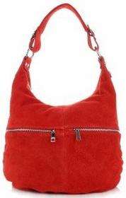 Genuine Leather Uniwersalne Włoskie Torebki Skórzane Czerwona (kolory) 8309cze