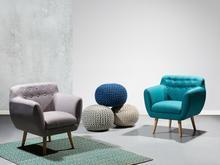 Beliani Fotel szary - fotel wypoczynkowy - do salonu - tapicerowany - MELBY