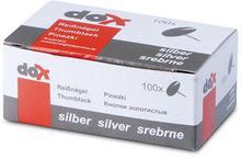Office products Pinezki klasyczne , srebrne 18195013-19