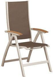 Fotel wielopozycyjny aluminium/textileneR 0100101-1100