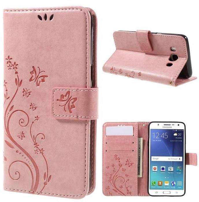 Flexi Etui Butterfly Book Samsung Galaxy J5 2016 - Różowy