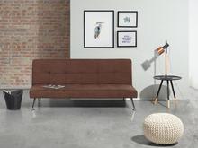 Beliani Sofa z funkcją spania brązowa - kanapa rozkładana - wersalka - HASLE brązowy