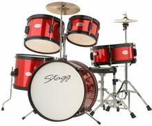 Stagg TIM JR 5/16 RD - akustyczny zestaw perkusyjny, seria Junior