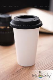 Sagaform Kubek termiczny z silikonową pokrywką Cafe, 250 ml