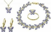 Galaxy Gold Products , Inc 2633 Komplet biżuterii z tanzanitów