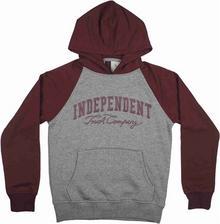 Independent koszulka Letterman Oxblood/Dark Heather OXBLOOD DARK HEATHER)