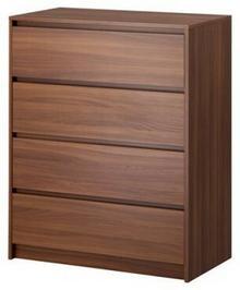 IKEA Komoda 4 szuflady średnibrąz wz. S 002.876.10