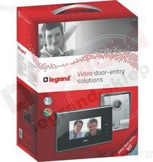 Legrand Zestaw wideodomofonowy 1-rodzinny z dotykowym aparatem głośnomówiącym 7
