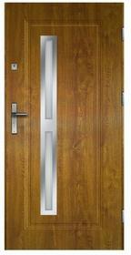 O.K. Doors Drzwi zewnętrzne stalowe Tetyda 90 prawe złoty dąb