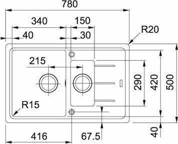 Franke Basis BFG 651-78 onyx 114.0283.991
