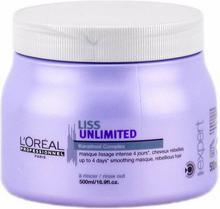 Loreal Liss Unlimited, Maseczka wygładzająca, 500ml