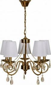 Candellux ŻYRANDOL klasyczny OPRAWA Lampa abażurowa wisząca DO salonu DYNASTY 35-09104 Patyna