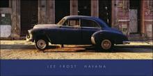 Havana, Cuba, Niebieski samochód - Obraz, reprodukcja