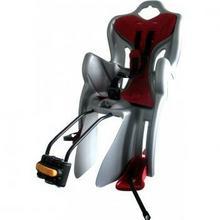 ProFex Fotelik rowerowy montowany do sztycy szaro-czerwony
