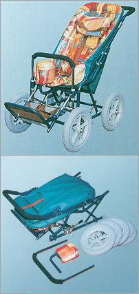 WZSO Wózek inwalidzki dzieciecy, ręcznie kierowany przez osobę towarzyszącą