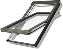 Fakro okno dachowe drewniane białe obrotowe FTU-V U3 z nawiewnikiem 78x160 FAOKFTUU3-13