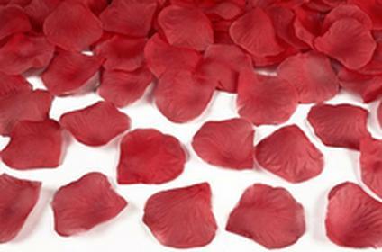 Płatki róż w woreczku, czerwony, 1op.