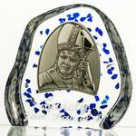 Crystal Julia Przycisk kryształowy Jan Paweł II z grawerem 4546)