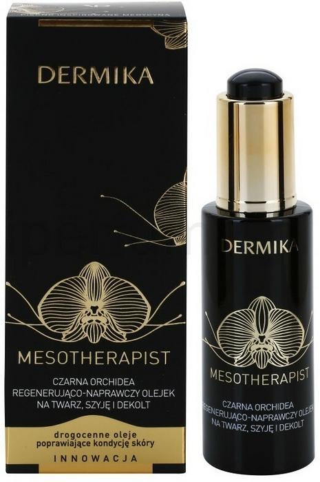Znalezione obrazy dla zapytania DERMIKA MESOTHERAPIST czarna orchidea regenerująco-naprawczy olejek na twarz dekolt 30 ml