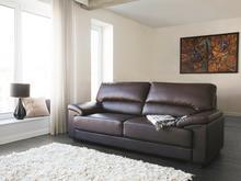 Beliani Sofa brązowa - trzyosobowa - kanapa - skóra ekologiczna - VOGAR brązowy