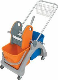 Splast Wózek do sprzątania dwuwiadrowy duży z prasą do wyciskania i