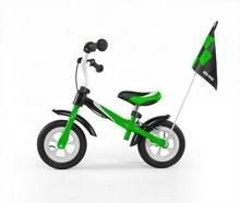 Milly Mally Rowerek biegowy Dragon Delux zielony