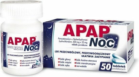 US Pharmacia Apap Noc 500mg 50 szt.