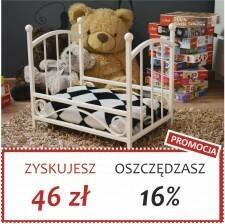 Grupa Lak System | Łóżka Metalowe Alicja - Łóżeczko dla lalek maskotek pupili